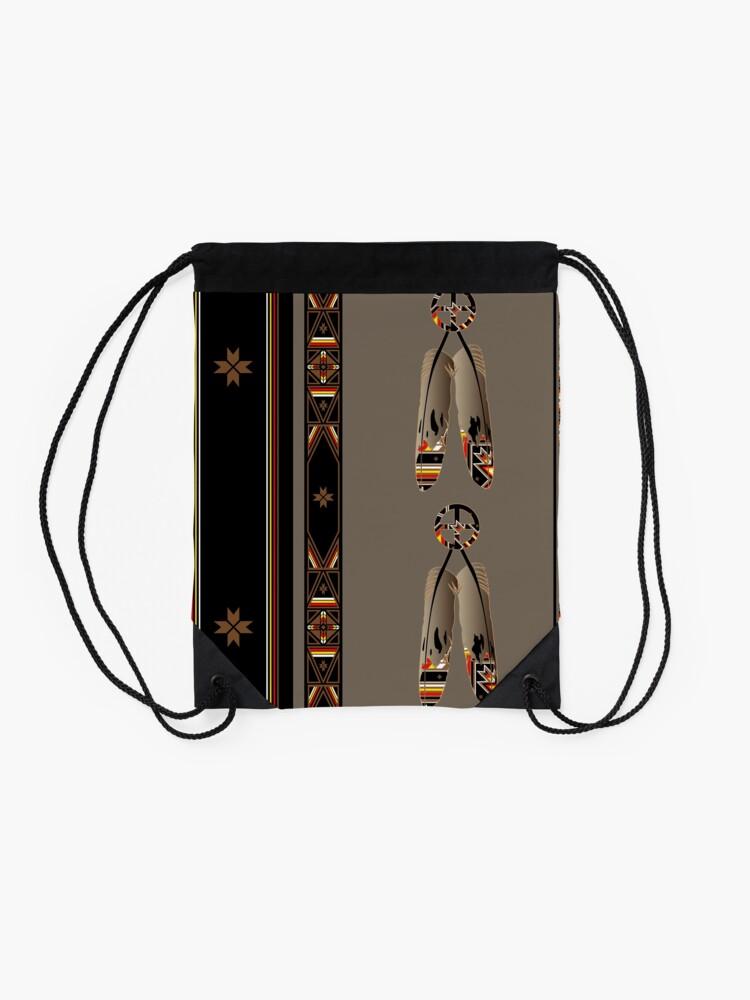 Alternate view of Lakota Design Drawstring Bag
