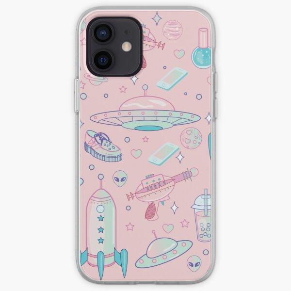 Galaxy Babe Pattern Coque souple iPhone