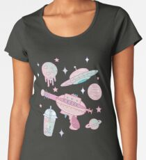 Galaxy Babe Pattern Women's Premium T-Shirt