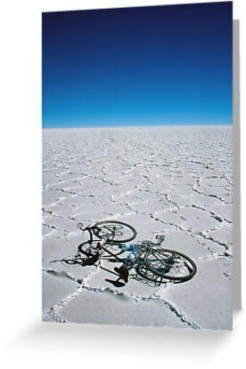 Salar de Uyuni & bicycle by Syd Winer