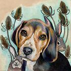 Sweet Beagle by MariJuutiArt