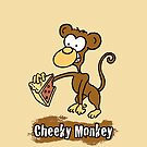 Cheeky Monkey Cartoon Design by Nigel Sutherland