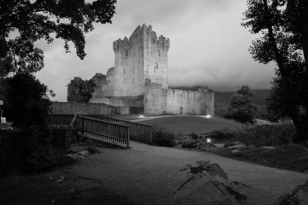 Ross castle in black and white by John Quinn