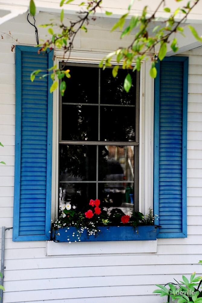 window in blue by deville