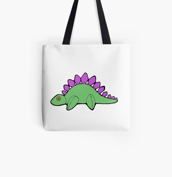 Plushy Stegosaurus All Over Print Tote Bag