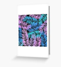 Tropical Palm Leaves IV Greeting Card