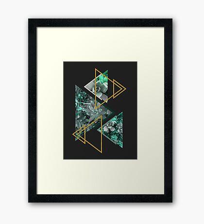 Gloomy Succulents #redbubble #decor #buyart Framed Print