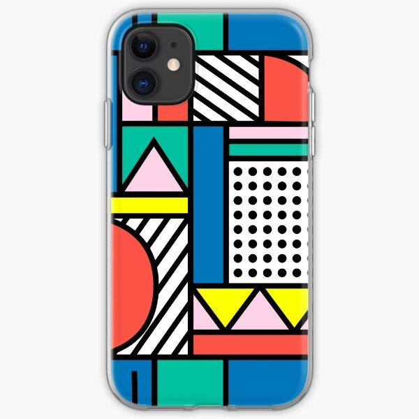 Memphis Color Block iPhone Soft Case