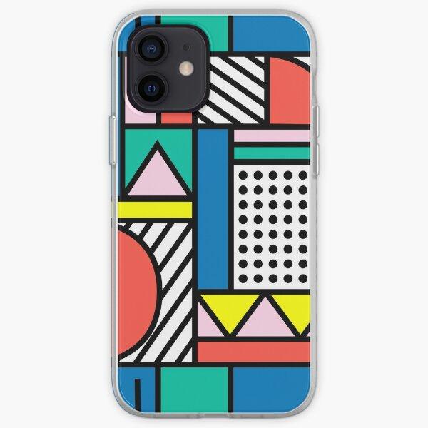 Bloc de couleur de Memphis Coque souple iPhone