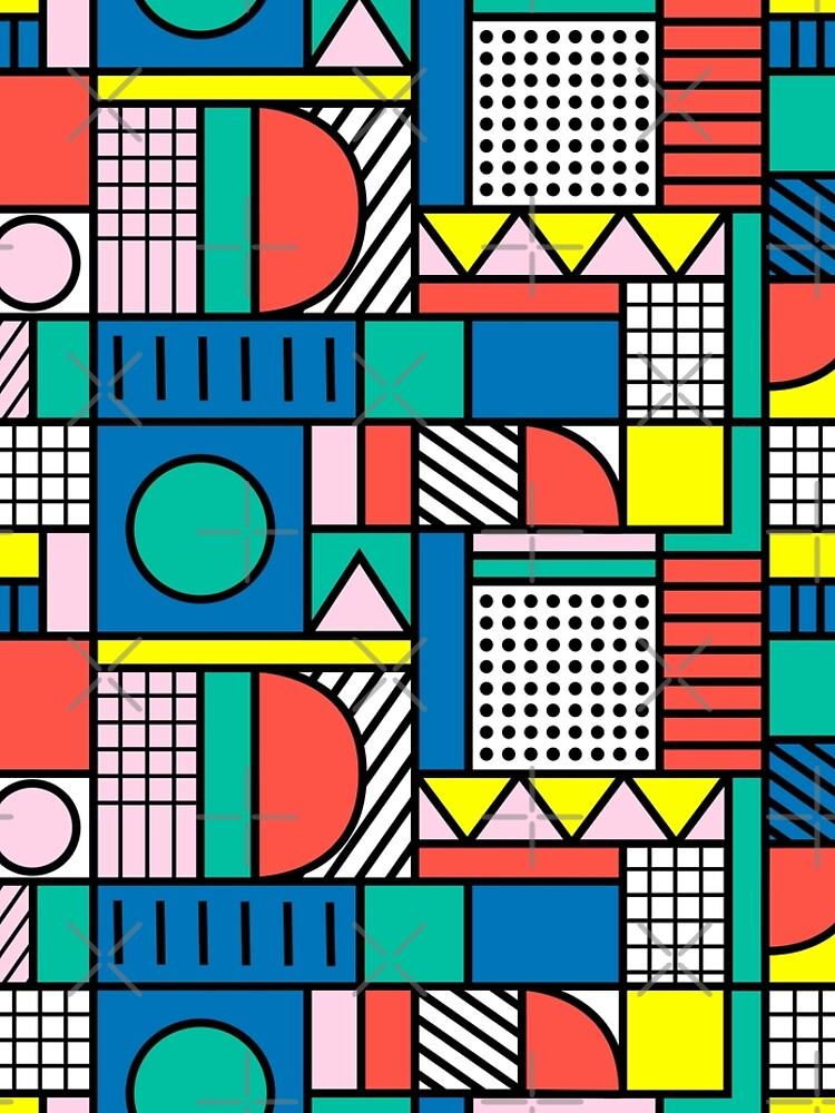 Memphis Color Block by PolitaStore