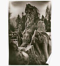 Statue at Peles Castle, Romania - Veleda Thorsson Photography Poster