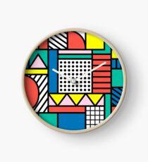 Memphis Color Block Clock