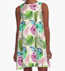 Summerly Tropical Pattern 4 A-Line Dress
