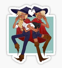 taako and lup || the adventure zone Sticker