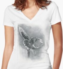 Great Grey Women's Fitted V-Neck T-Shirt