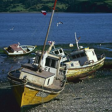 Fishing boats, Chiloe, Chile by onmybike