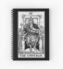 The Emperor Tarot Card - Major Arcana - fortune telling - occult Spiral Notebook