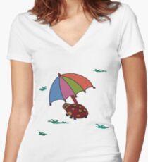 Frog Women's Fitted V-Neck T-Shirt