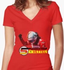 Sebastian Vettel #2017 Women's Fitted V-Neck T-Shirt