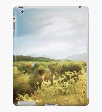 Watercolor Painting; Green Rabbitbrush at Mono Lake, Eastern Sierra, California, USA iPad Case/Skin