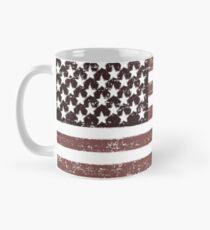 Taza clásica Bandera estadounidense se desvaneció - diseño retro vintage de Estados Unidos
