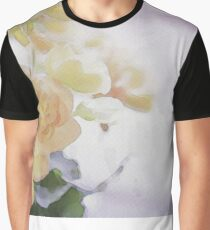 Watercolor Painting; Close Up of Orange Begonia Under Soft Sunlight Graphic T-Shirt