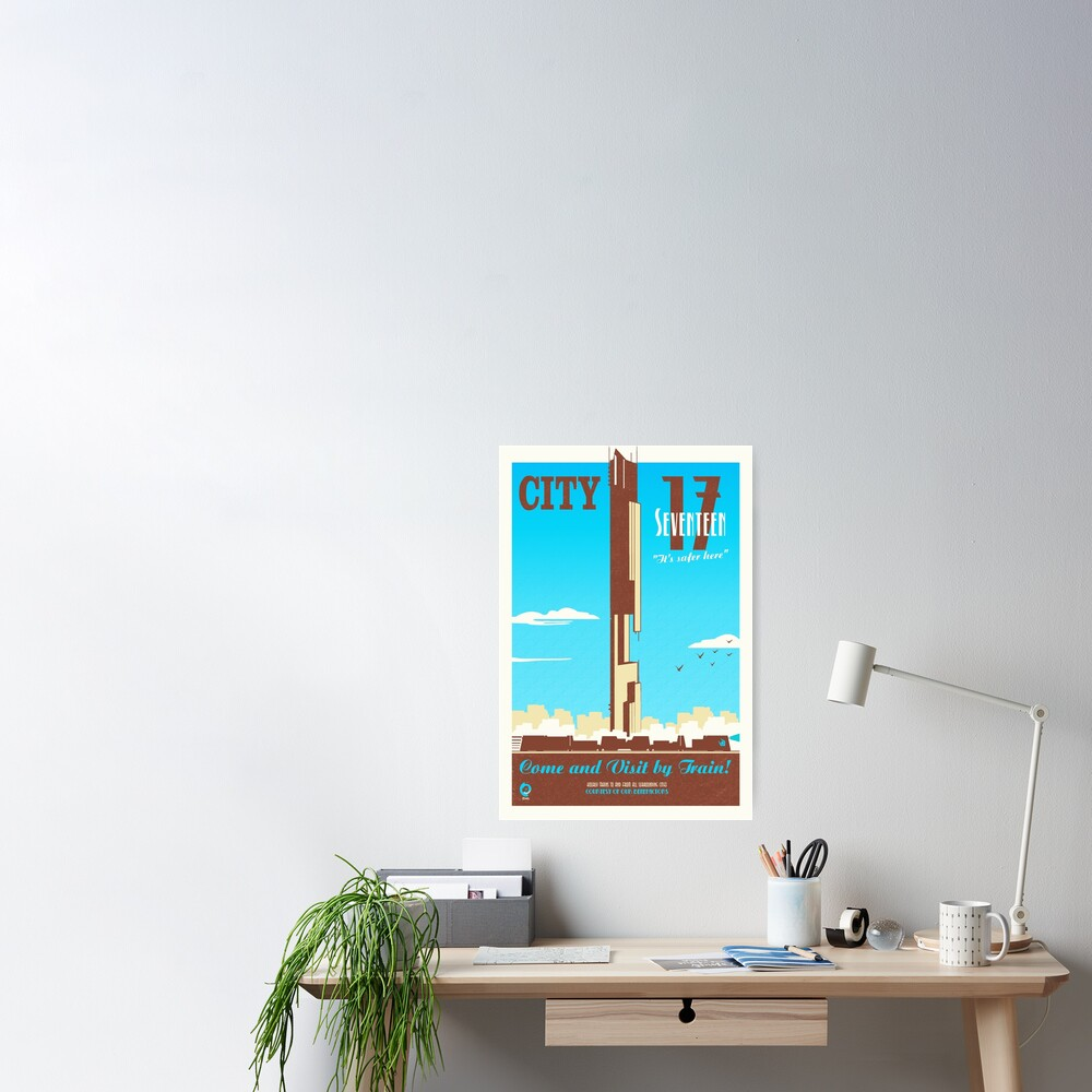 City 17 Travel Poster (blue) Poster
