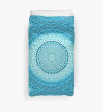 White Coastal Spray Mandala  Duvet Cover