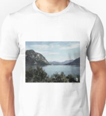 Watercolor Painting; The Landscape View in Lucerne, Switzerland T-Shirt