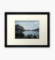 Watercolor Painting; The Landscape View in Lucerne, Switzerland Framed Print