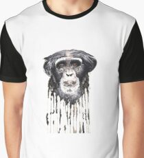 Watercolour Chimpanzee  Graphic T-Shirt