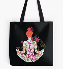 flower meditation in pink and purple Tote Bag