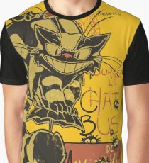 Nekobus, le Chat Noir Camiseta gráfica