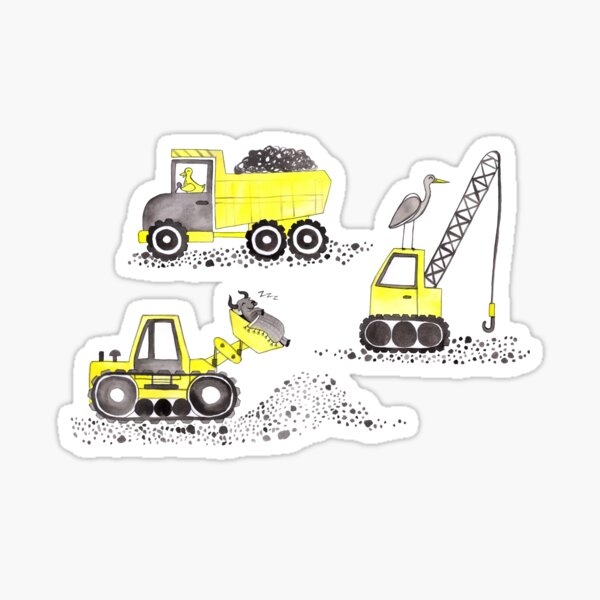 Construction Pun! Sticker