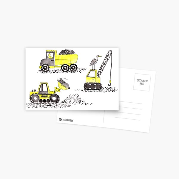 Construction Pun! Postcard