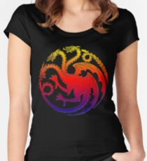 Game Dragon Series TV Women's Fitted Scoop T-Shirt