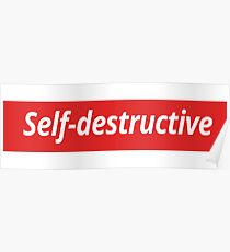 Self-destructive Poster