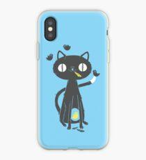 Schwarze Katze iPhone-Hülle & Cover