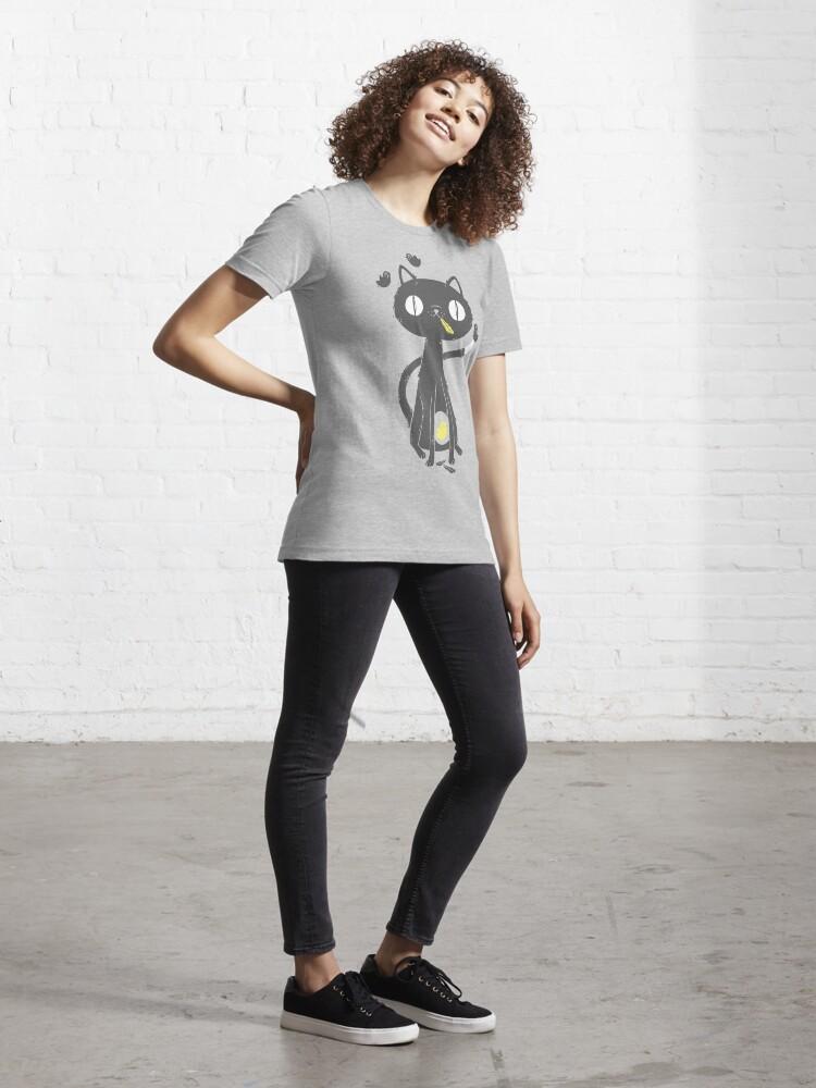 Alternate view of Black Cat Essential T-Shirt