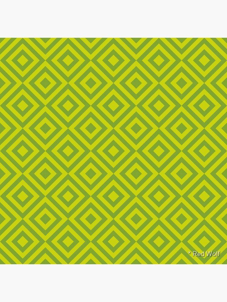 Geometric Pattern: Diamond Strobe: Lime by redwolfoz