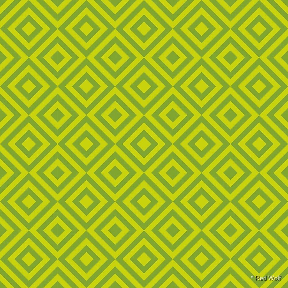 Geometric Pattern: Diamond Strobe: Lime by * Red Wolf
