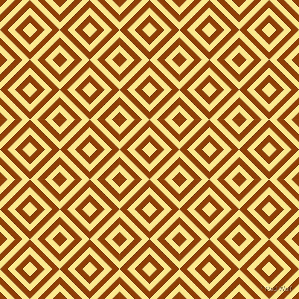 Geometric Pattern: Diamond Strobe: Brown by * Red Wolf