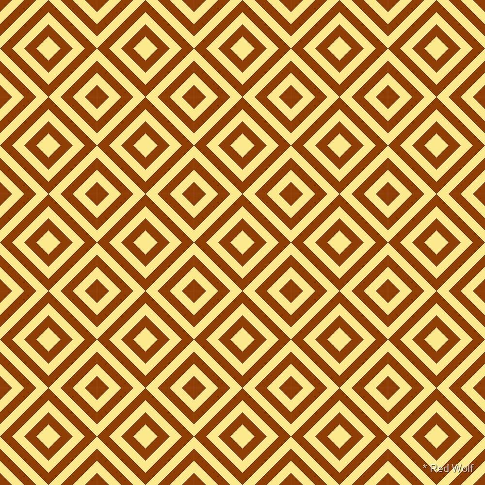 Geometric Pattern: Diamond Strobe: Brown by * Red Wolf