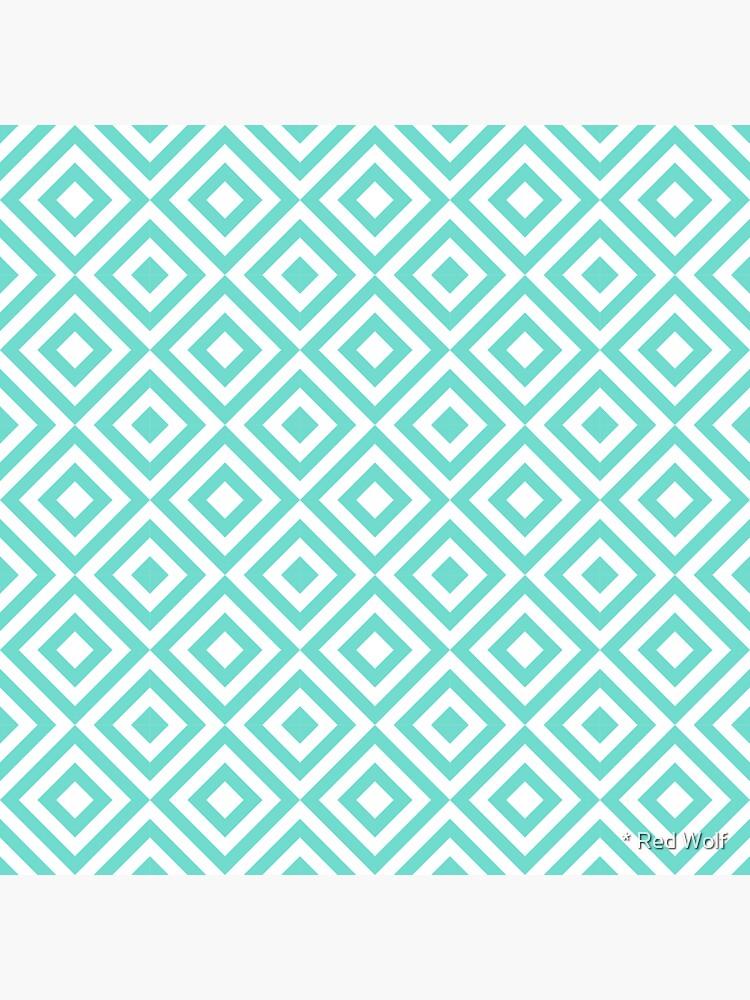 Geometric Pattern: Diamond Strobe: Blue by redwolfoz