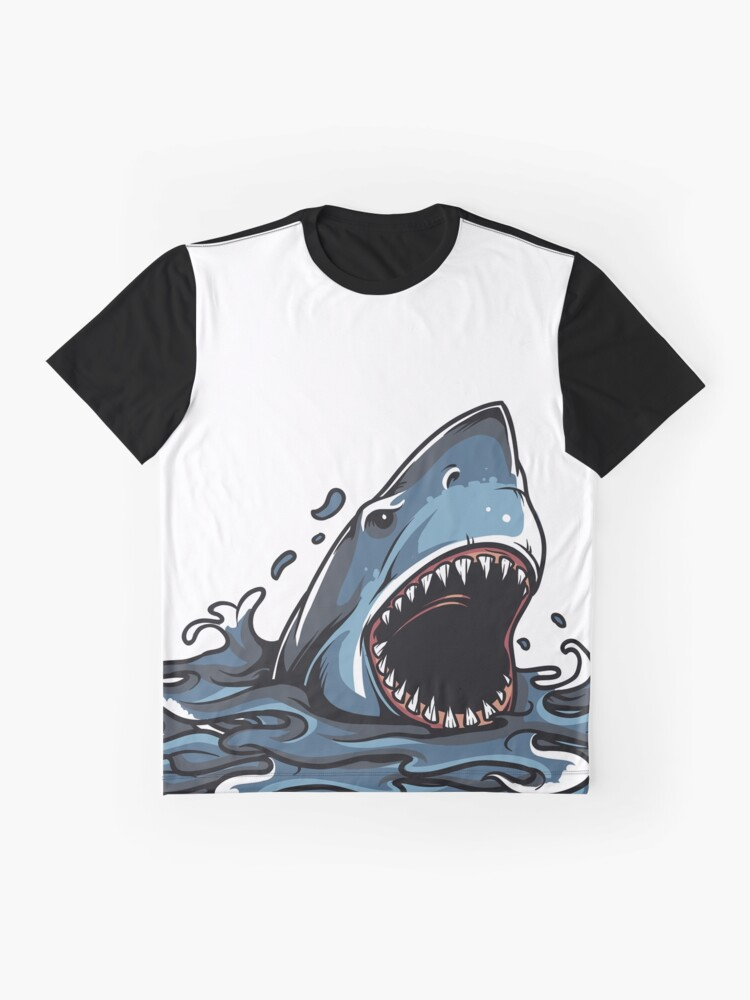 4de5a06e5562 Alternate view of SHARK BITE 3D PRINT DESIGN Graphic T-Shirt