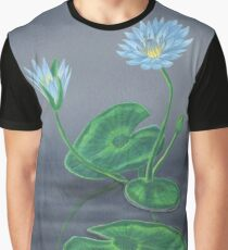 blue egyptian waterlillies at dusk Graphic T-Shirt