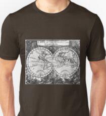 Black and White World Map (1682) T-Shirt