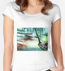 The Stream Women's Fitted Scoop T-Shirt