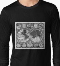 Black and White World Map (1730) T-Shirt