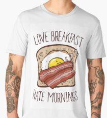 Love Breakfast, Hate Mornings Men's Premium T-Shirt